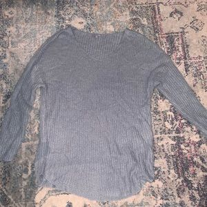 Light blue sweater v neck charolotte Russe